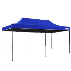 3x6m Popup Outdoor Gazebo Instahut Garden Party Canopy Market Folding Tent Blue