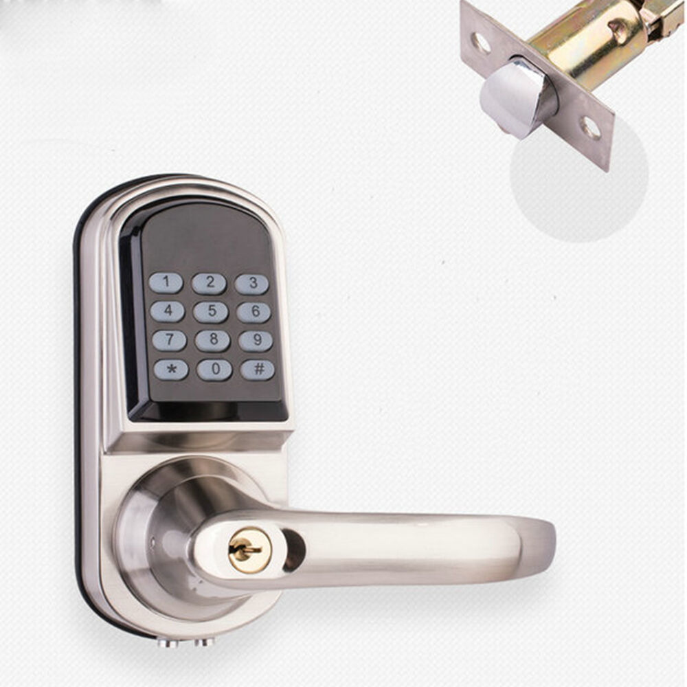 Smart Electronic Door Lock Keyless Touch Password Entry Home