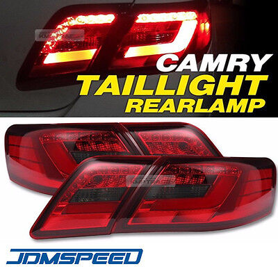 led tail lights rear lamps red clear color for toyota camry 2006 2011 tail la. Black Bedroom Furniture Sets. Home Design Ideas