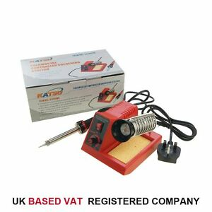 58W Variable Temperature Soldering Station Iron Kit Electronic Repair 312089A