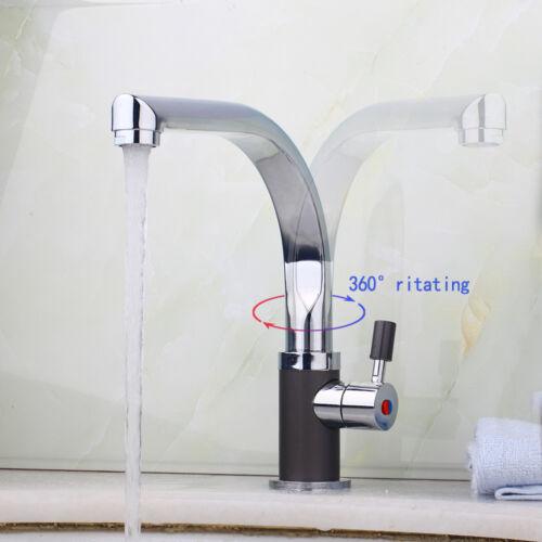 DE Chrom Painting Swivel Auslauf Badezimmer Küche Waschbecken Wasserhahn Mixer
