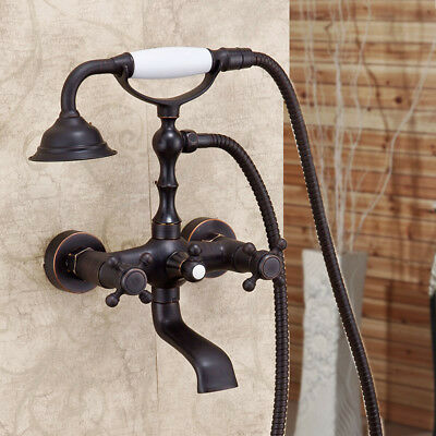 Oil Rubbed Bronze Clawfoot Bathroom Hand Waterfall Tub Faucet Barss Shower Tap  for sale  USA