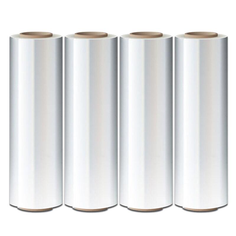 "4 Rolls Hand Stretch Plastic Film Shrink Pallet Wrap 18"" X 1500 FT Heavy Duty"