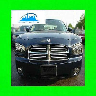 (2006-2010 DODGE CHARGER CHROME TRIM FOR GRILL GRILLE 5YR WARRANTY)