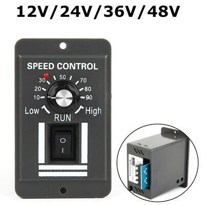 DC 12V 24V 36V 48V PWM Motor Speed Controller Reversible Switch Regulator 10A