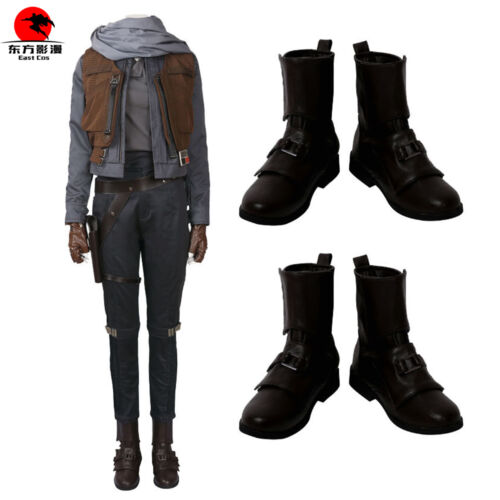HOT Rogue One:A Star Wars Story Jyn Erso Shoes Cosplay BOOTS Costume Any Size