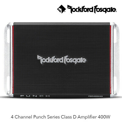 Rockford Fosgate PBR400X4D - 400 Watt 4 Channel Class D Full Range...
