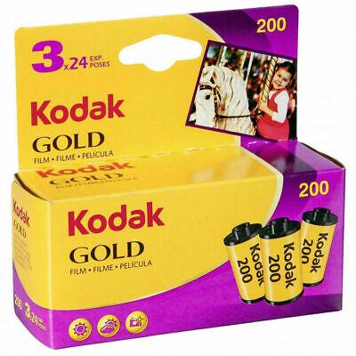 3 x Genuine Kodak Gold 200 Film Triple Pack 135 35mm (24 Exposures) BNIB