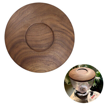 Wooden Espresso Grinder Coffee Bean Hopper Dosers Lid Cover For Mazzer Mini