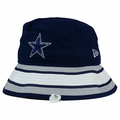 Dallas Cowboys NFL Team Stripe Bucket New Era Training Camp Men's Floppy Hat Cap - Dallas Cowboys Bucket