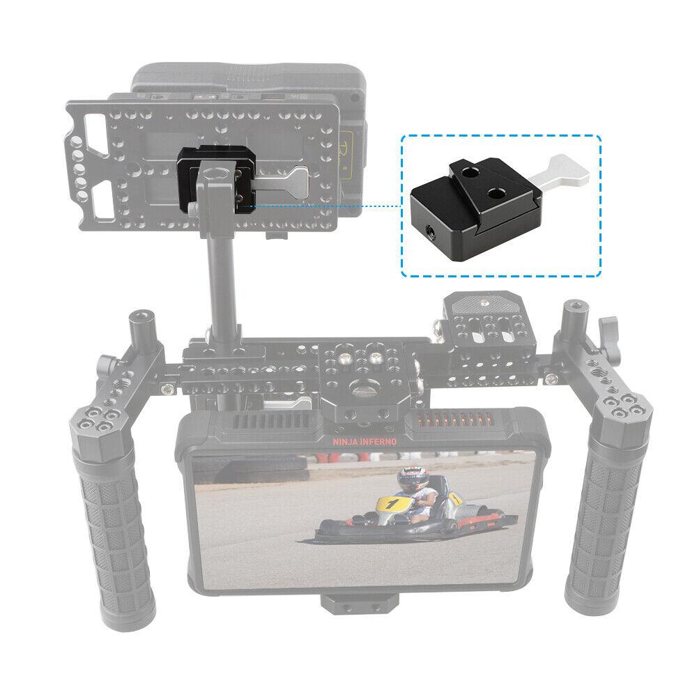 AluminiumAlloy V Lock Mount Assembly Quick Release External Battery Plate Camera