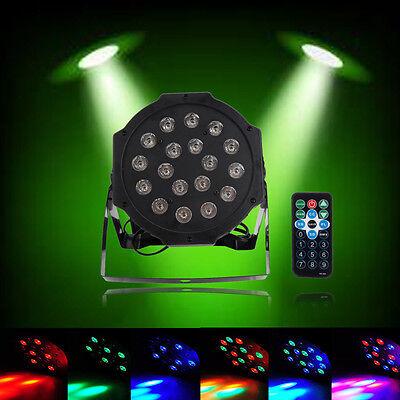 New 18 LED RGB Stage PAR Light Disco DJ Lighting DMX-512 Strobe Party Light 24W
