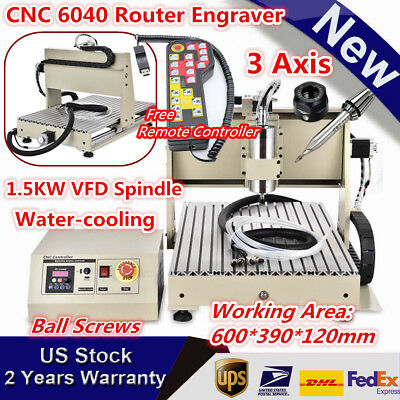 3 Axis 6040 1.5kw Vfd Milling Engraver 3d Drilling Machine Cnc Router Kit 110v