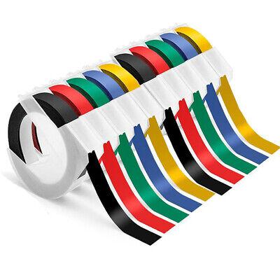 10 Rolls Compatible Dymo 38 Embossing Label Maker Tape 520109 White On Black