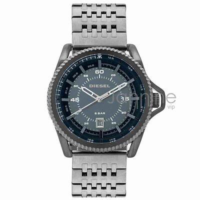 Diesel Authentic Watch 45mm Rollcage DZ1753 Blue Dial Gunmetal Stainless Steel