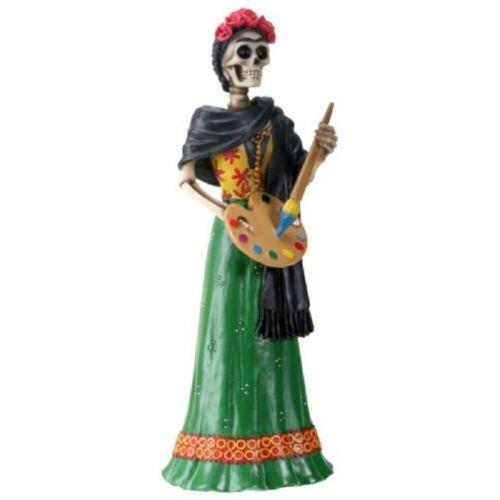 NEW! Day of the Dead La Pintora Painter Senorita Red Figurine DOD Statue 8359