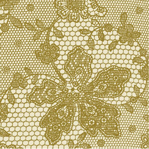 Gold Cream Lace Napkins - Golden Wedding 50th Anniversary Lunch Napkins