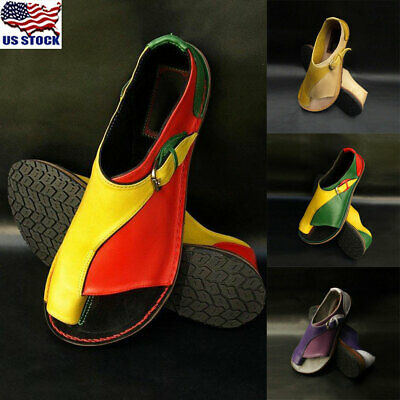 Walking Sandals - Women Leather Sandals Walking Shoes Thong Flops T-Strap Flip Flat Toe Ring Shoes