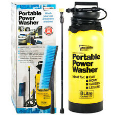 Portable Pressure Power Washer Pump Spray Jet Car Wash Cleaner Brush 8 Litre