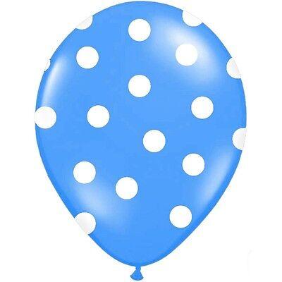 ts blau 30 cm 10 Stück - Ballons Taufe Kindergeburtstag (Polka Dots Luftballons)