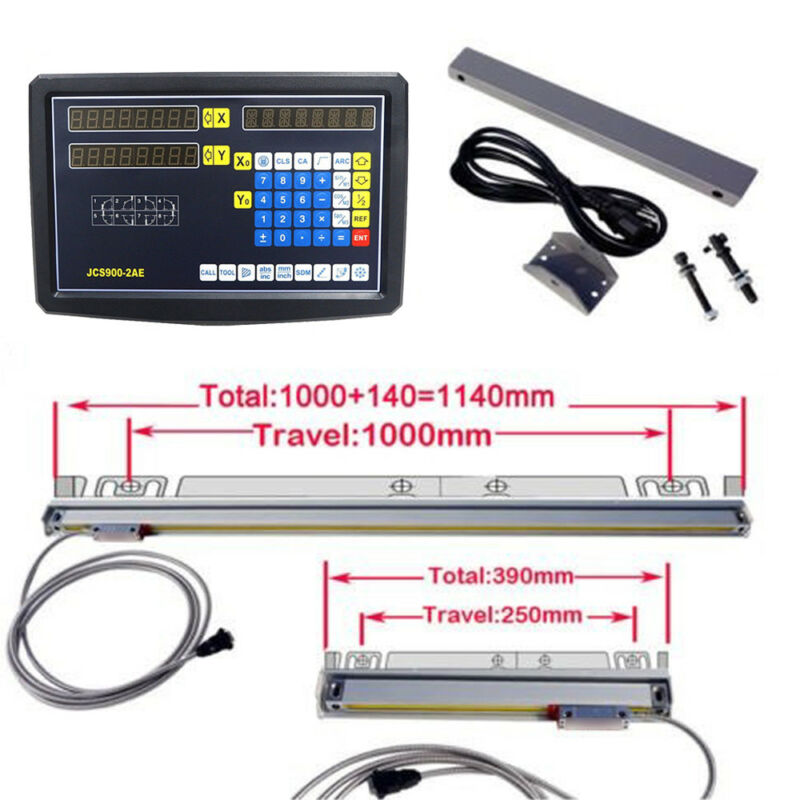 2 Axis Digital Readout DRO for Milling Lathe Machine & 2 Lin