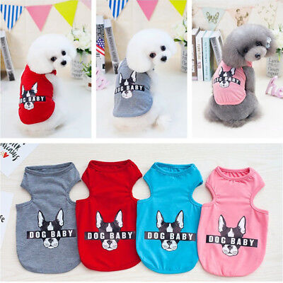 Pet Puppy Baby Dog Cat Small Vest T-shirt Summer Clothes Apparel Costume - Baby Puppy Dog Costume