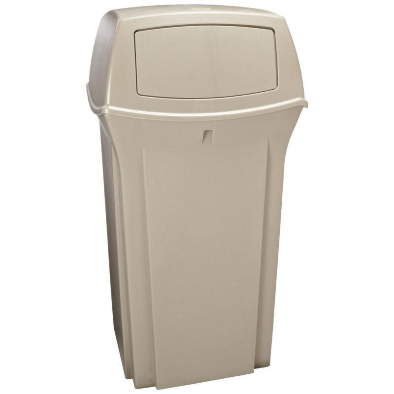 Rubbermaid 35-Gallon Fire-Safe Square Container (Beige) 843088BG NEW