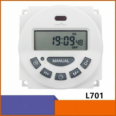 12v Dc Timer Switch 7 Day Digital Programmable Lcd Power Timer Time Switch Relay