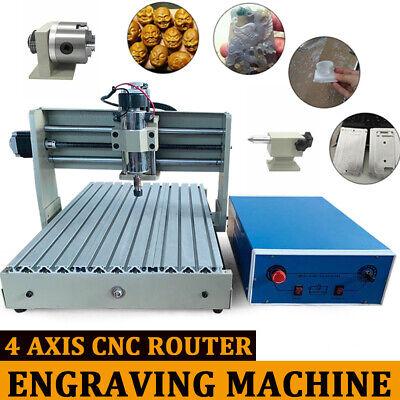 4 Axis 3040 Engraer Desktop Engraving Machine Cnc Engraver Milling Machine