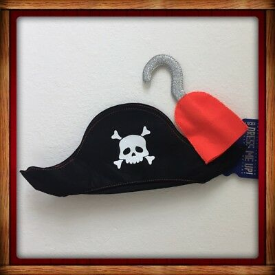 Cotton On Kids 2-pc set Dress Up Pirate Hat Hook Halloween Costume Toddler/Kids