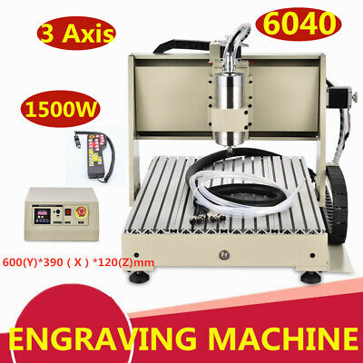 1500w 3 Axis Desktop 6040 Cnc Router Drilling Engraving Carving Cutterhandwheel