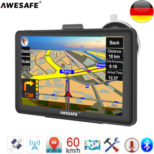 "9/"" Zoll Navigationsgerät Für LKW PKW BUS Navi Navigation GPS FM POI Blitzer 8GB"
