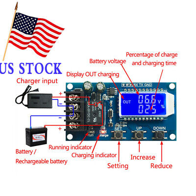 10A Lithium Battery Charge 6-60V Control LCD Display Module Protection Board