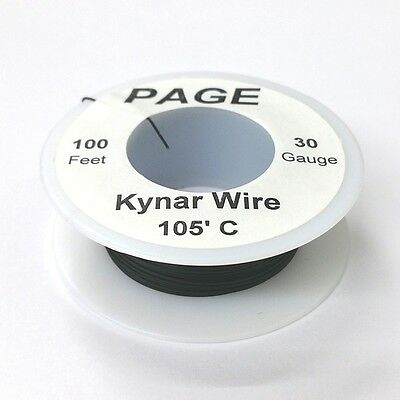 100 Page 30awg Black Kynar Insulated Wire Wrap Wire 100 Foot Roll Made In Usa