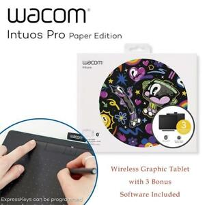 USED Wacom Intuos Wireless Graphic Tablet with 3 Bonus Software Included, 7.9 x 6.3, Black (CTL4100WLK0) Condtion: ...