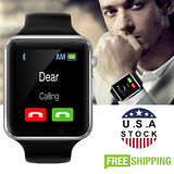 Black A1 Bluetooth Smart Watch GSM SIM for iPhone Samsung lg Android Phone Mate