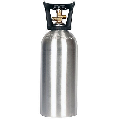 10 Lb. Co2 Cylinder New Aluminum With Handle - Cga320 Valve - Free Shipping