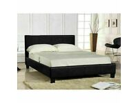 🔵💖🔴BRAND NEW🔵💖🔴LEATHER BED-DOUBLE SIZE FRAME -BLACK-BROWN- WITH MATTRESS OPTION