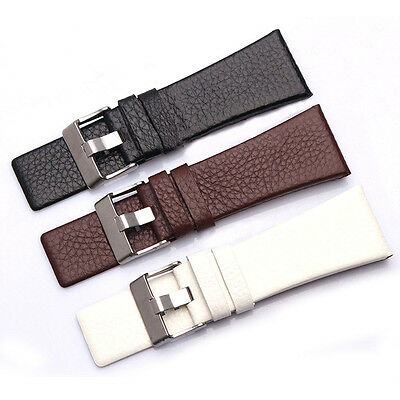 Genuine Leather Replacement Watch Strap Band For Diesel Watch 2mm-30mm (Diesel Leather Band Watch)