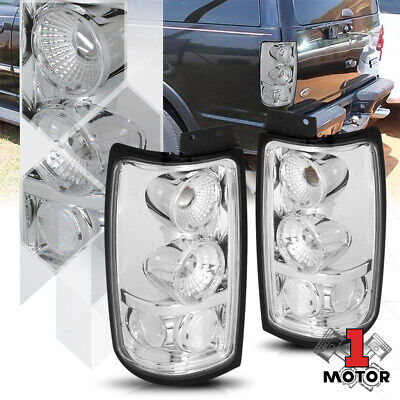 Chrome Housing Clear Lens *EURO ALTEZZA* Tail Light Lamp for 97-02 Expedition
