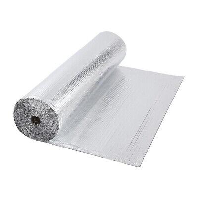 Double Aluminium Single Layer Bubble Wrap Foil Insulation 1.2m x 40m Loft Floor