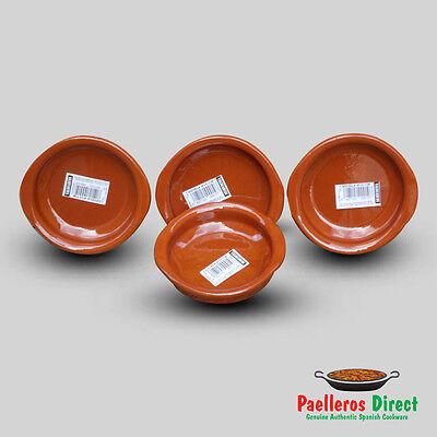 Set of 4 x 10cm Spanish Terracotta Tapas Dishes / Cazuelas
