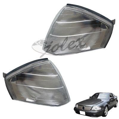 Blinker Blinkleuchte weiss rechts+links Set Satz Mercedes SL R129 W129 92-01 NEU