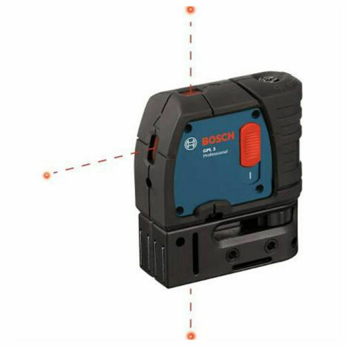 Bosch GPL3 Three Point Self-Leveling Plumb Laser w/Hard Carrying Case NEW