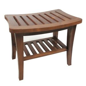 Redmon Indoor / Outdoor Home Decor Classic Genuine Teak Wood Bench, 5323 New
