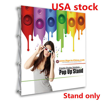 Us 8ft Tension Fabric Pop Up Display Backdrop Trade Show Exhibition Booth Wall