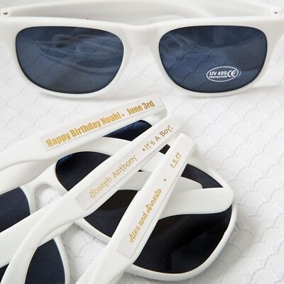50 Personalized White Sunglasses Beach Wedding Bridal Shower Party Favors