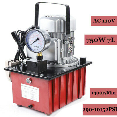 Electric Driven Hydraulic Pump Single Acting Manual Valve 1.8m Oil Hose 750w