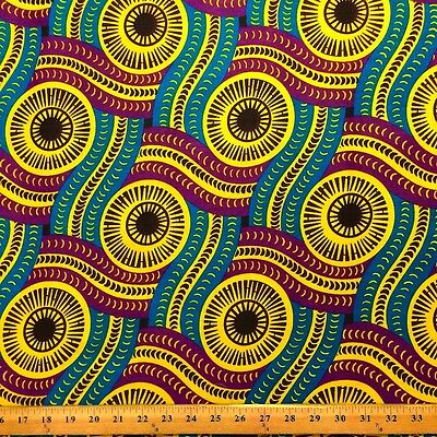 African Print Fabric 100% Cotton 44'' wide sold by the yard Serpent (90116-1)