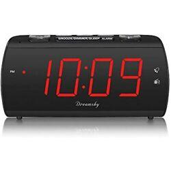 Digital Alarm Clock Radio With USB Charging Port And FM Radios, Earphone Jack,